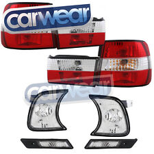 BMW E34 88-95 5-SERIES CLEAR RED TAIL LIGHT LIGHT KIT FRONT & SIDE INDICATORS