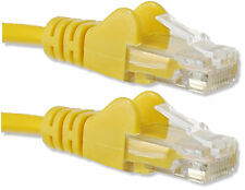 20m YELLOW Network Cable RJ45 LAN Patch Lead Cat 5 Ethernet 20 meter MODEM to PC