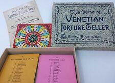 "Vintage ""The Game of Venetian Fortune Teller"" By Parker Brothers 1920's"