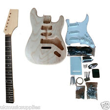Coban DIY Electric ST 80 Guitar Kit Bolt on Neck Chinese Ash Body White fitting