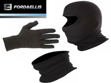 Motorcycle Winter Thermal Clothing - Gloves, Balaclava, Neck Warmer