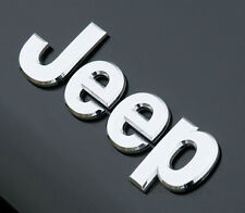 New Jeep Chrome Badge Rear Boot Front Bonnet Sticker Emblem cherokee Wrangler
