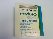 DYMO-ESSELTE -6000  TAPE CASSETTE -CLEAR-  60610  10m X 6mm