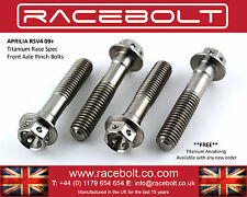 Aprilia RSV4 Factory Front Axle Pinch Bolt Kit - Racebolt Titanium Race Spec