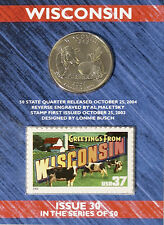 USPS Wisconsin State Quarter� and Stamp Set