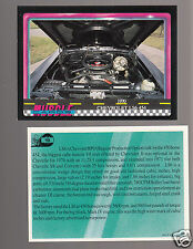 1970 CHEVROLET LS6 454 CHEVELLE MOTOR ENGINE Muscle Car Photo 1991 TRADING CARD