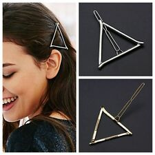 Simple Woman Triangle Metal Hairpin Hairclips Barrette Headband for Lady