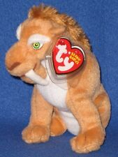 TY DIEGO the SABERTOOTH TIGER BEANIE BABY - MINT with MINT TAG (ICE AGE 3 MOVIE)