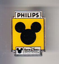 RARE PINS PIN'S .. DISNEY PARIS VINTAGE OPENING 1992 PHILIPS MICKEY MOUSE ~16