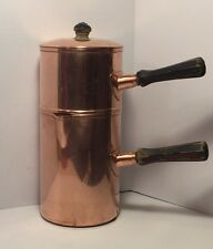 Vintage Copper Revere Ware Pour Over Drip Coffee Maker Metal Ware Complete