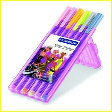 Staedtler Triplus Fineliner Marker Pen - Girlie Purple (Pastel) Color - 6 Pack