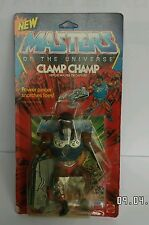 Vintage HE MAN MOTU MASTERS OF THE UNIVERSE figure CLAMP CHAMP MATTEL SEALED