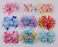 "Lot Disney Cinderella  jingle 9 baby girl kids boutique 5"" hair bows-2182 S"
