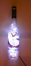 Grey Goose vodka bottle lamp with crystals and LEDS