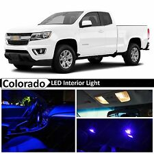 15x Blue LED Light Interior Package Kit for 2015-2017 Chevy Colorado + TOOL