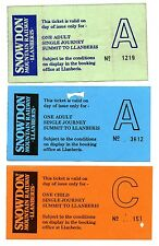 SNOWDON MOUNTAIN RAILWAY: 3 X SUMMIT-LLANBERIS STAND-BY TICKETS, 1990s.