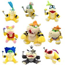 9X Super Mario Plush King Bowser & Kids Koopalings Koopa Larry Lemmy Ludwig ETC