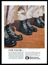 1957 US Army 82nd Airborne paratrooper boots photo Diamond Chemicals print ad
