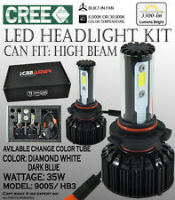 ICBEAMER 9005 HB3 6000K 30000K CANBUS CREE COB LED KIT HIGH BEAM 3300LM FastShip
