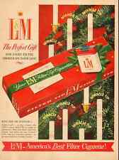 1950s vintage Christmas ad, L&M 'America's Best Filter Cigarettes' -121212