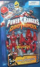 Power Rangers Dino Thunder RED Quadro-Battlized Ranger New Factory Seal 2004