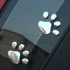 XD#3 Car Sticker 3D Dog Bear Footprints Chrome Badge Emblem Car Sticker Decal