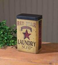 Primitive Reproduction Laundry Room `Red Star Laundry Soap Tin~~ Advertising