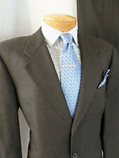 HICKEY FREEMAN Saks Fifth Avenue brown 3 three-button wool suit 34x29 42R
