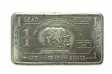 1 Troy Oz Lead Rhino Bar