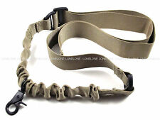 China Made Airsoft CQB Nylon Lanyard Bungee 1 Point Sling For Rifle Coyote Brown