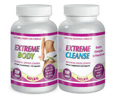 Maximum Diet Weight loss pills 30 day Month Fat Burn EXTREME BODY AND CLEANSE