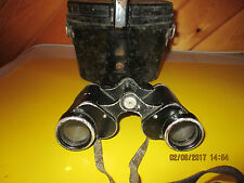 WWII German Military Dienstglas 6x30 Binoculars w/ Case