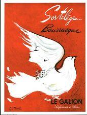 Publicité Ancienne Parfum SORTILEGE Bourrasque Advertising 1955 (P 33) C MAUREL