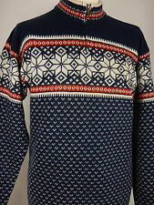 North Field Mens Nordic Fair Isle Winter Jumper Sweater Size Large
