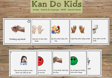 Social Story Cards - Washing My Hands / Hygiene - Autism