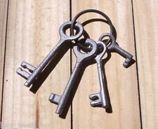 "Cast Iron ~ SKELETON JAIL HOUSE KEY SET ~ Vintage Decor { 5 1/2"" Long } ~ by PLD"