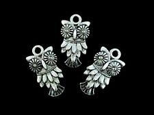 5 x 20mm Tibetan Silver Owl Charms Pendants Jewellery FREE UK P+P J152