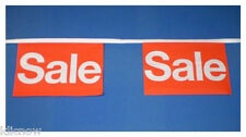 Sale P.O.S Advertising Bunting 9metres 30ft Long with 30 Cloth fabric Flags