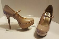Charlotte Russe Nude Patent Mary Jane Platform Stiletto Pump Size 10 M Shoes