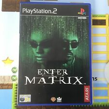 ENTER THE MATRIX - SONY PLAYSTATION 2 PS2 PSTWO GAME - MINT
