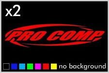 (2) Pro Comp Sticker Decal Window Car Truck  Shocks Suspension Absober Racing