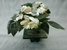Nice carved jade mother of pearl bonzai tree decorative collectible