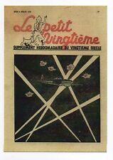 Carte Postale Tintin. Le Petit Vingtième n°37 de 1938. DCA et projecteurs