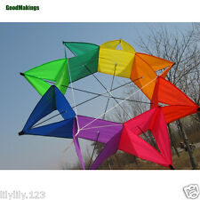 New 115cm Star Anise Kite Novelty Kite 3D Lotus Rainbow Octagon Single Line Fun