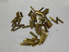 HO TRAIN **RARE** 3/8 OZ. LOT OF NEW/USED BRASS RAIL JOINERS