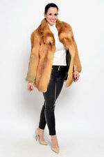 CANADIAN RED FOX FUR JACKET COAT - RED BLUE SILVER NO MINK GOLDEN ISLAND -  XS