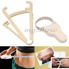 Body Fat Caliper+Body Mass Measuring Tape Tester Fitness Weight Loss Muscle New