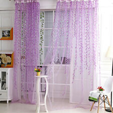 Tree Willow Curtains Blinds Voile Tulle Room Curtain Sheer Panel Drapes SS