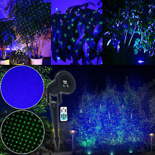 Outdoor Green LED Laser Light BLUE Landscape Garden Yard Holiday Projector Xmas