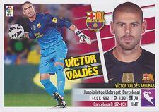 N°01 VICTOR VALDES # ESPANA FC.BARCELONA STICKER PANINI ESTE LIGA 2014